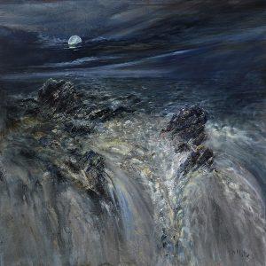 Diana Mackie Artwork Rocks, Sea and Moonlight